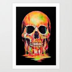 Dye Out Art Print