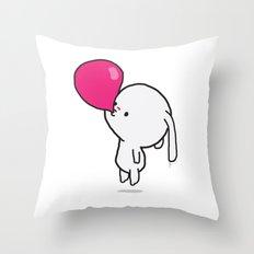 Mononoco with Bubble Gum  Throw Pillow