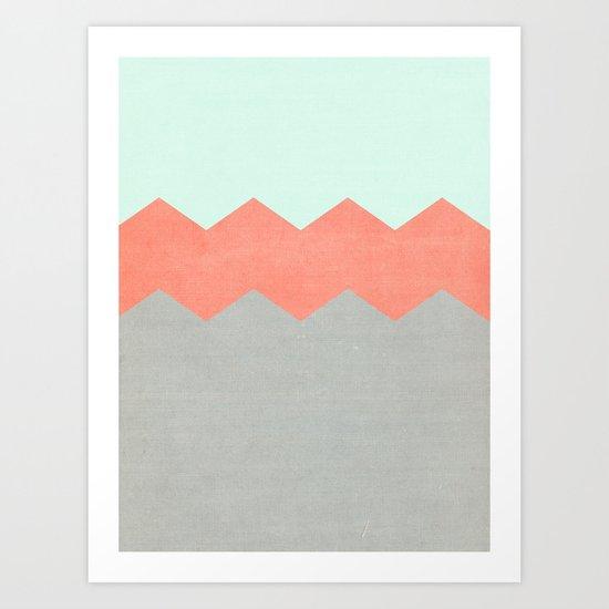 triple chevron (4) Art Print