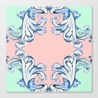 baroque Canvas Prints featuring Baroque by Charlotte Goodman