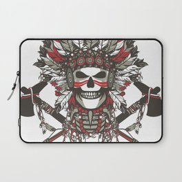 Red Indian Skull Laptop Sleeve