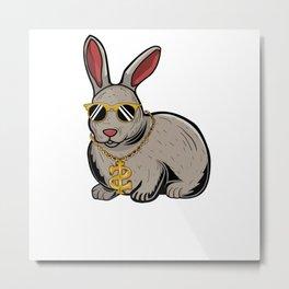 Hip Hop Easter Bunnyas Gangster Rap Bunn Life Rabbit Metal Print