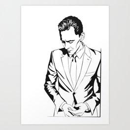 Smart casual, a portrait Art Print
