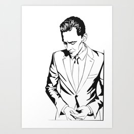 The Night Manager Tom Hiddleston in Smart casual Art Print