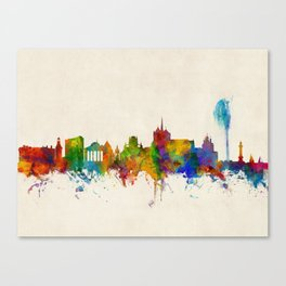 Geneva Switzerland Skyline Canvas Print