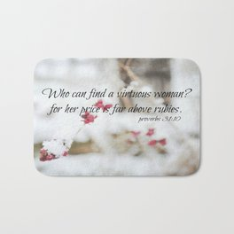 Proverbs 31 Virtuous Woman Bath Mat