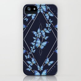 Insecta Pattern - Blue Morpho iPhone Case