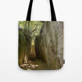Excavated Etruscan Roads Tote Bag