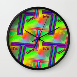 T - pattern 3 Wall Clock