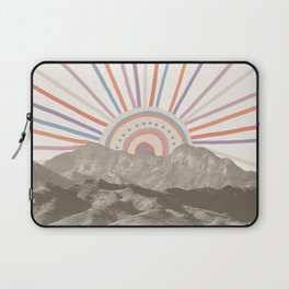 Summerlin Mountain // Abstract Vintage Mountains Summer Sun Vibe Drawing Happy Wall Hanging Laptop Sleeve