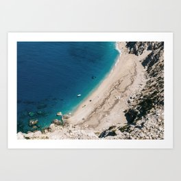 Blue Beach Sea Kefalonia Island Greece CANVAS WALL ART PRINT ARTWORK