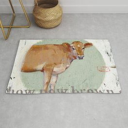 jersey cow Rug