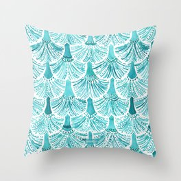 MERMAID TAILS Nautical Scallop Pattern Throw Pillow