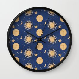 Celestial Bodies Wall Clock
