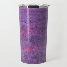 purple poppy field I Travel Mug