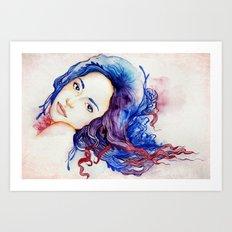 la sirène Art Print