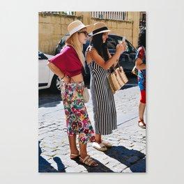 Floral & Stripes Canvas Print