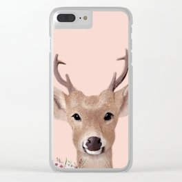 Deer Print Clear iPhone Case