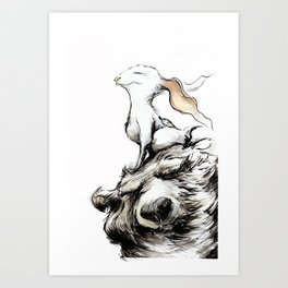 Feel the wind in your ears Art Print