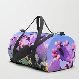 Sweet Rainbow Tropical Cactus #tropicalart #decor Duffle Bag