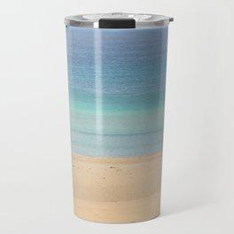 landscape of ocean and sand beach Travel Mug