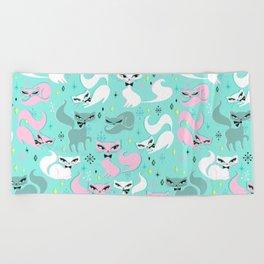Swanky Kittens Beach Towel
