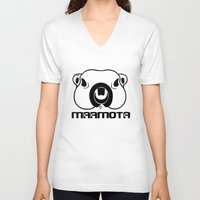philosophy V-neck T-shirts featuring Marmota Philosophy by Hesto