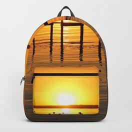 Clear Lake, Iowa Sunset Backpack