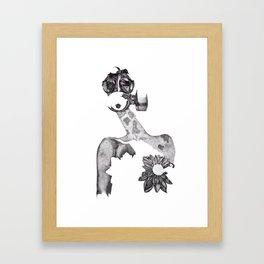 Anabelle (B&W) Framed Art Print