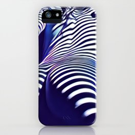 2020s-AK Sensual Blue Striped Woman from Behind iPhone Case
