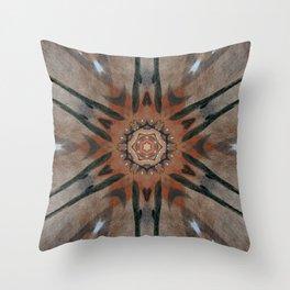 Bushfire Gum Medallion 5 Throw Pillow