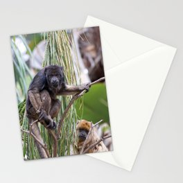 Pair of Howler Monkeys watching Stationery Cards