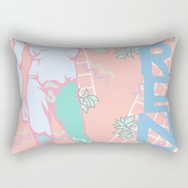 80's Postmodern Florence Travel Poster Rectangular Pillow