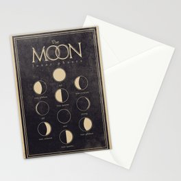 Lunar Phases Moon Cycles Stationery Cards