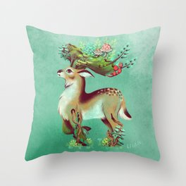 Guardian Deer Throw Pillow
