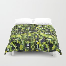 Northern Lights Abstract Painting Duvet Cover