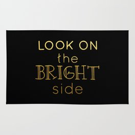 Look on the bright side - gold & black Rug