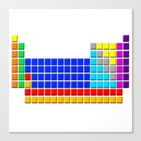 periodic table Canvas Prints featuring PERIODIC TABLE OF ELEMENTS by darlthedreamer
