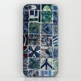 Quilt of a Sort in Blue iPhone Skin