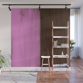Pink Paint on Wood Wall Mural