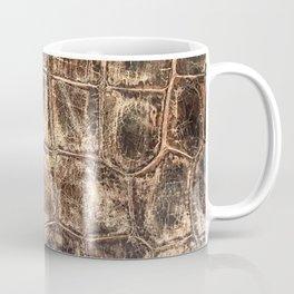Alligator Skin // Tan and Brown Worn Textured Pattern Animal Print Coffee Mug