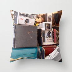 A Shot in Time Throw Pillow