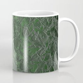 Grunge Relief Floral Abstract G167 Coffee Mug
