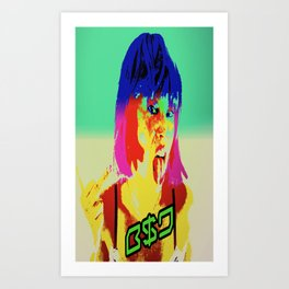 Middle finger to them all B$D  Art Print