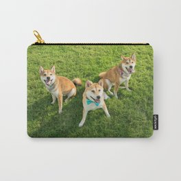 shiba in park Carry-All Pouch