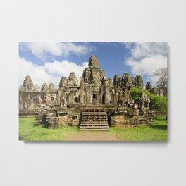 Bayon Temple in Angkor Thom, Cambodia Metal Print