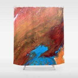Arizona Agate Slab Shower Curtain