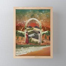 Magic door to the infinite deserts Framed Mini Art Print