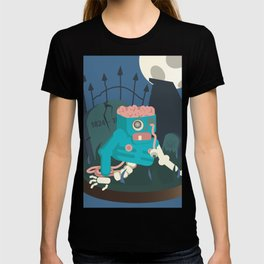 ZOMBIE CRAWLER IN CEMETARY T-shirt