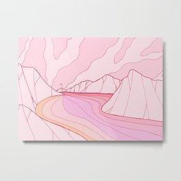 The calm pink river Metal Print